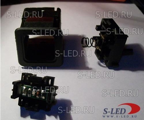 Подстветка кнопок панели приборов ВАЗ-2110-12.