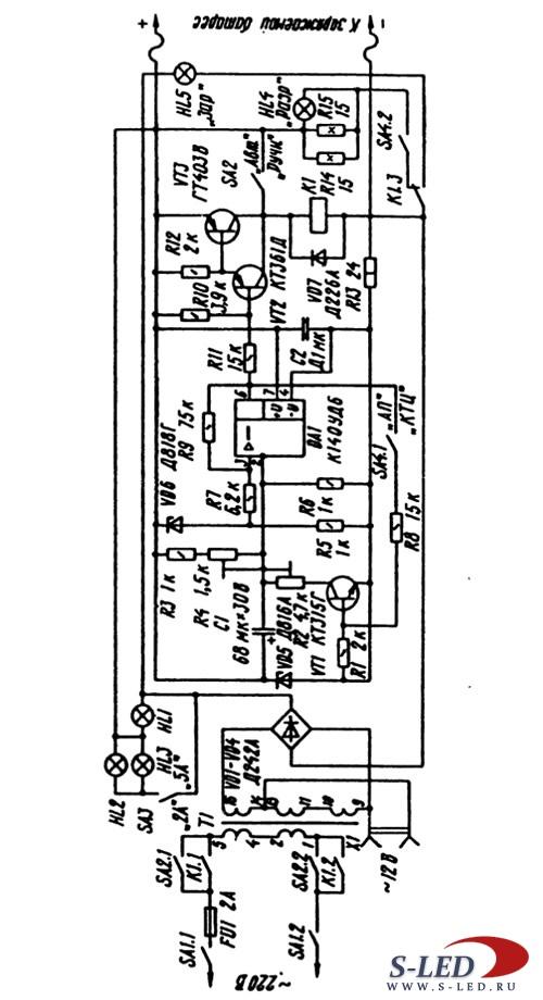 Данное устройство предназначено для заряда автомобильного аккумулятора напряжением 12В.  Может работать как в...