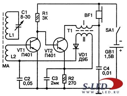Схема радиоприёмника с