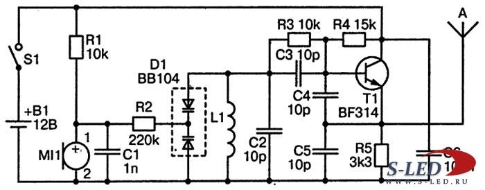 Схема FM-передатчика