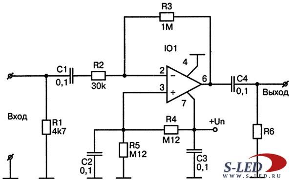 Схема усилителя сигнала