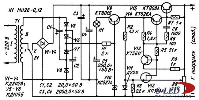Схемы блоков питания s led ru  страница