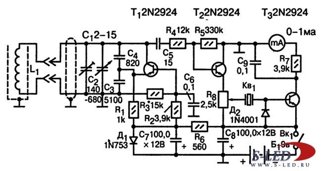 Схемы металлоискателей - S-Led.Ru.