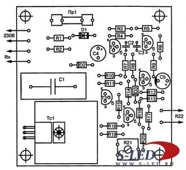 Схема простого терморегулятора.