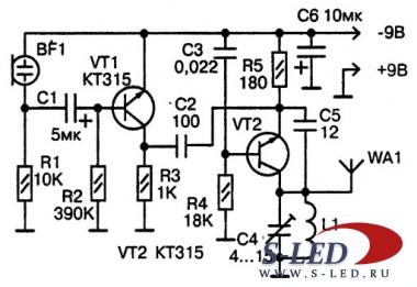 ...обеспечивается дальность действия до 100м при использовании радиоприемника, имеющего диапазон УКВ 88-108 МГц.
