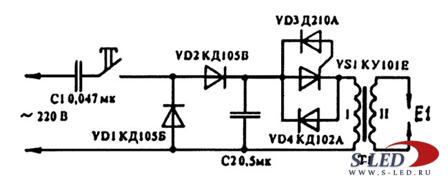 Схема зажигалки для газа