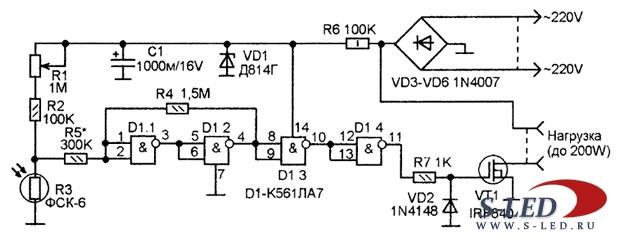 Схема терморегулятора и