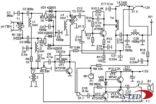 Схема лабораторного трансивера