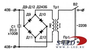 Схема кодового замка на тиристорах.