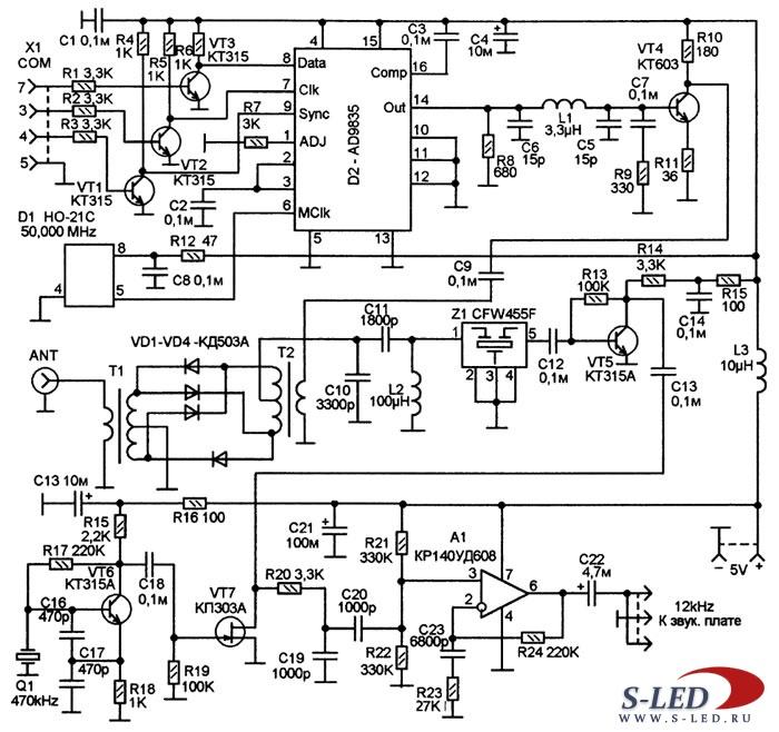 Схема широкодиапазонного DRM-