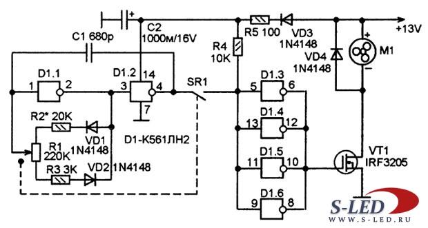 Схема подключения вентилятора опель.
