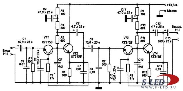 Усилитель tda8560q схема усилителя