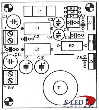 схема импульсного БП для ноутбука - Практическая схемотехника.