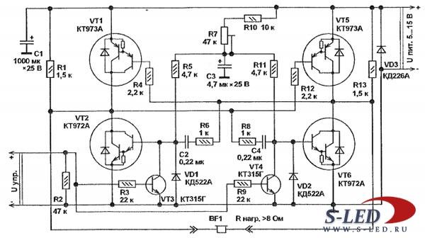Мощный УМЗЧ на транзисторах Ланзар  Страница 880