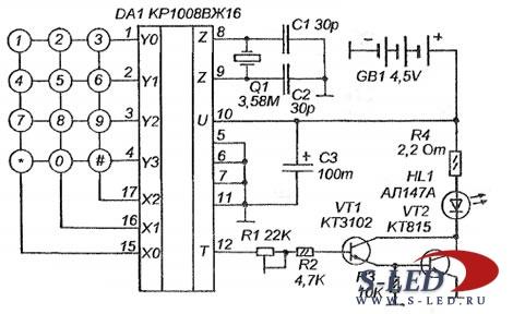 Схема системы дистанционного
