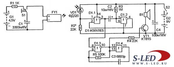 Схема лазерного пейнтбола