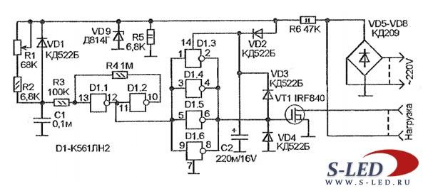 Фазовый регулятор мощности на