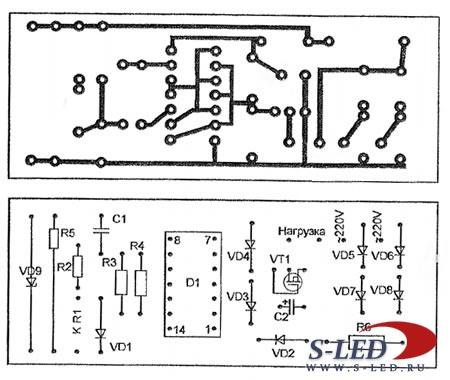 схемы фазовый регулятор мощности