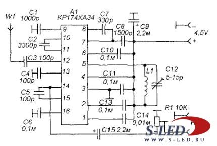 Схема устройства беспроводной