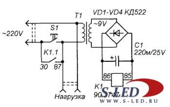 Схема электромышеловки