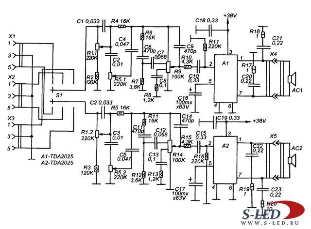 Схема интегрального HI-FI