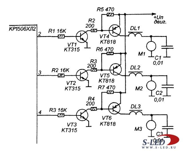 управление скоростью вращения мотора переменного тока - Практическая схемотехника.
