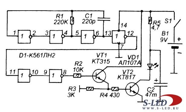 Схема устройства ДУ на ИК-