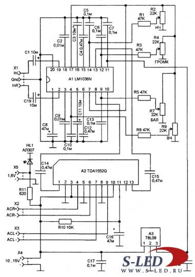 Электрическая схема mp3 плеера