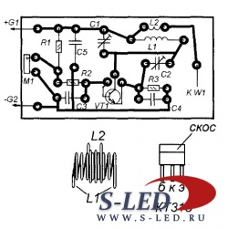 Схема простого приемника прямого усиления на транзисторах РАДИОПРИЕМНИКИ НА КРЕМНИЕВЫХ ТРАНЗИСТОРАХ