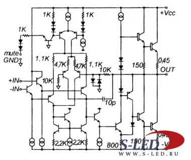 Микросхема УМЗЧ LM3886