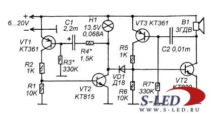 Схема мультивибратора с регулировкой частоты на транзисторах фото 790