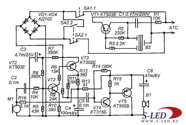 Схема контроллера двигателя