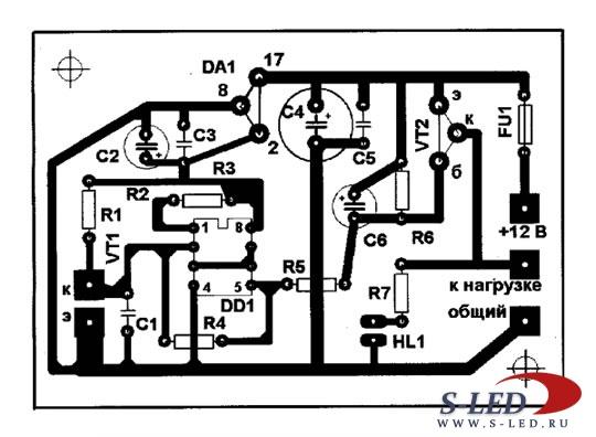 Схема фотореле на микросхеме