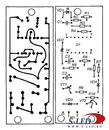 Схема автомата полива