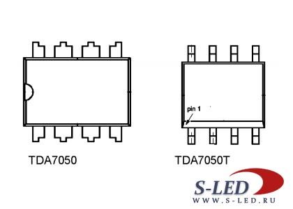 Микросхема УМЗЧ TDA7050 /