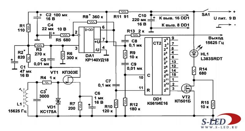 Схема калибратора для