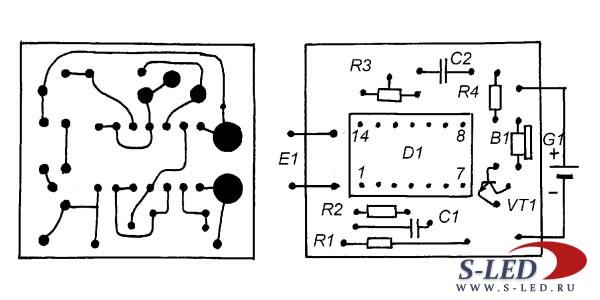 Схема сигнализатора гейзера