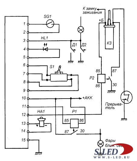 Схема подключения автосигнализации конвой sx-6 k Скачать.  2 янв 2012 .