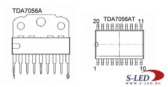 Микросхема УМЗЧ TDA7056A/AT