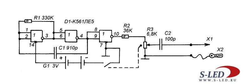 Схема тестера радиомастера