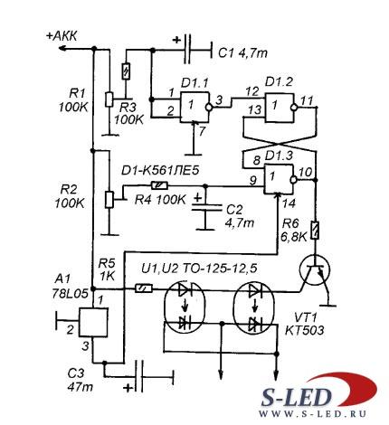 схема зарядного устройства для автомобильного аккумулятора с диммером...