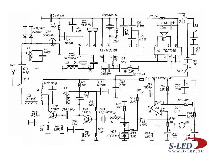 Схема карманной СВ-