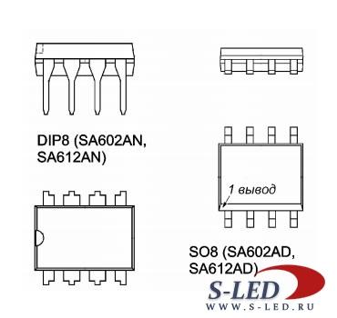 Микросхема SA602, SA602A