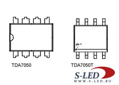 Микросхема УМЗЧ TDA7050 / TDA7050T.