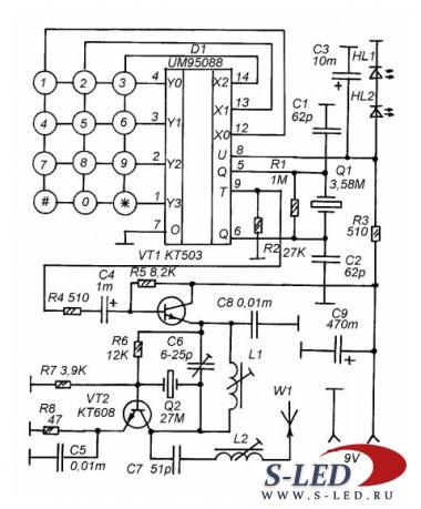Схема системы радиоуправления