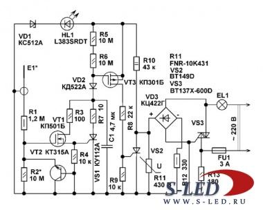 Bt169d схема включения