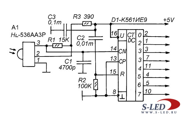 Схема системы ДУ