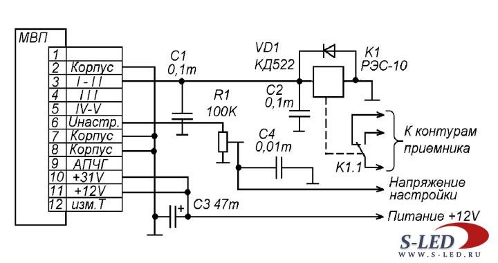 Схема модуля управления УКВ-ЧМ