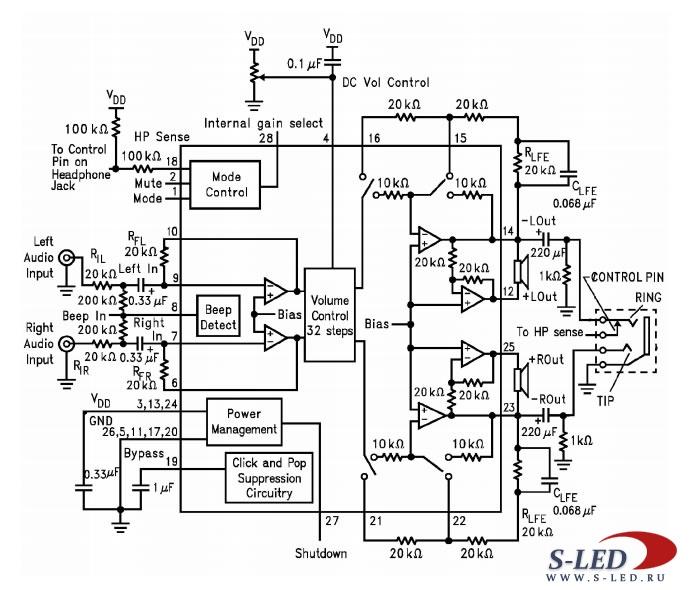 Микросхема ИМС LM4835MT