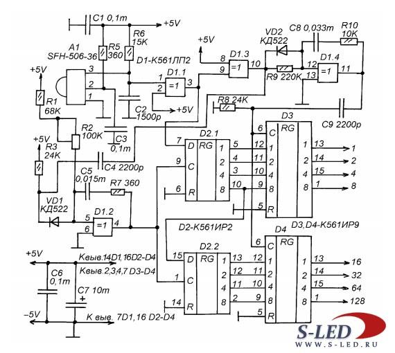 схемы электрочайников
